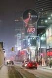 I stadens centrum Toronto under ett snöfall Royaltyfri Bild