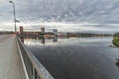 I stadens centrum Umea, Sverige Arkivfoto