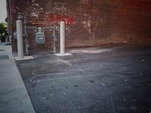 I stadens centrum väg Royaltyfri Fotografi