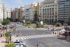 I stadens centrum Valenica, Spanien Arkivfoto