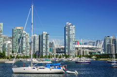 I stadens centrum Vancouver Royaltyfria Foton