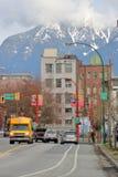 I stadens centrum Vancouver och den östliga sidan royaltyfria bilder