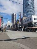 I stadens centrum Vancouver teater royaltyfri bild