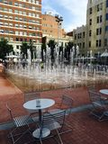 I stadens centrum vattenförsörjningssystem Arkivfoto