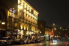 I stadens centrum Victoria på natten Royaltyfri Foto