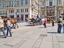 i stadens centrum vienna royaltyfri foto