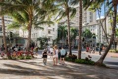 I stadens centrum Waikiki Royaltyfri Foto