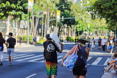 I stadens centrum Waikiki Arkivfoton