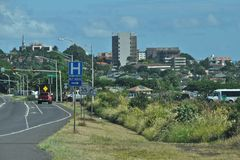 I stadens centrum Wailuku Arkivfoto