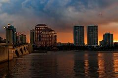 I stadens centrum West Palm Beach Arkivfoto