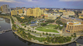 I stadens centrum West Palm Beach Royaltyfria Bilder