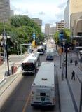 I stadens centrum Winnipeg arkivfoton