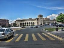 I stadens centrum Yerevan, Armenien Royaltyfria Foton