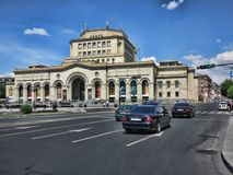 I stadens centrum Yerevan, Armenien Arkivfoto