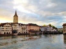 I stadens centrum Zurich Royaltyfri Bild