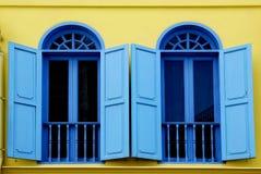 i stary kolorowy okno Obrazy Royalty Free