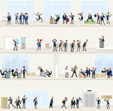 I stort kontor stock illustrationer
