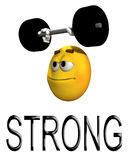 I Am Strong With Text. A Conceptual image representing strength Stock Images
