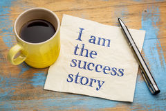 I am the success story positive affirmation royalty free stock photos