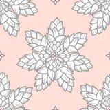 I succulenti combinati nel profilo e nel bianco grigi progettano sul perno pastello Immagine Stock Libera da Diritti