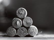 I sugheri del vino si chiudono in su Fotografia Stock