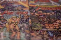 I supereroi dei fumetti di meraviglia dei vendicatori Fotografie Stock Libere da Diritti