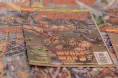 I supereroi dei fumetti di meraviglia dei vendicatori Fotografie Stock