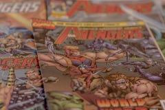I supereroi dei fumetti di meraviglia dei vendicatori Immagine Stock Libera da Diritti