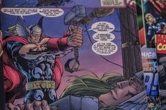 I supereroi dei fumetti di meraviglia dei vendicatori Immagini Stock Libere da Diritti