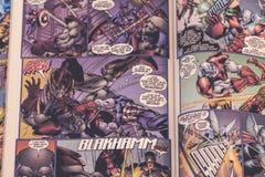 I supereroi dei fumetti di meraviglia dei vendicatori Immagini Stock