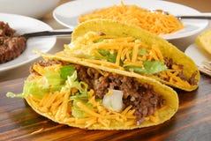 I Tacos si chiudono in su Fotografia Stock