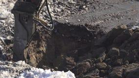 I tagli idraulici dell'interruttore congelati sporcano il video di riserva del metraggio di Timelapse video d archivio