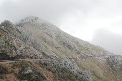 I Taiwan Nantou Hehuan bergsnö Royaltyfri Bild