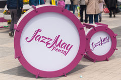 I tamburi per jazz Fotografia Stock