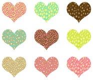 I tarjeta del día de San Valentín del corazón Fotos de archivo