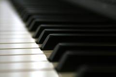 I tasti del piano di Digitahi si chiudono in su Fotografia Stock Libera da Diritti
