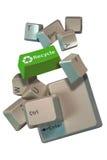 I tasti di calcolatore riciclano Immagini Stock