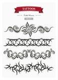 I tatuaggi tribali hanno messo 1 Fotografia Stock Libera da Diritti