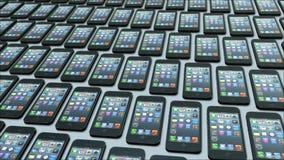 I telefoni differenti si muovono diversamente nel ciclo illustrazione vettoriale