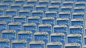 I telefoni differenti si muovono diversamente nel ciclo royalty illustrazione gratis