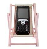 I telefoni mobili nel resto Fotografie Stock