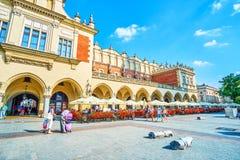 I terrazzi dell'aria aperta a Cracovia, Polonia immagini stock libere da diritti