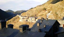 I tetti dell'Andorra fotografie stock libere da diritti