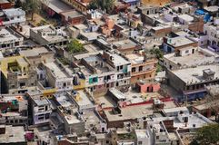 I tetti delle case a Jaipur, India Fotografia Stock Libera da Diritti