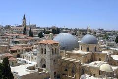 I tetti di Gerusalemme Fotografie Stock Libere da Diritti