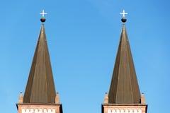 I tetti di vecchia città Immagini Stock Libere da Diritti