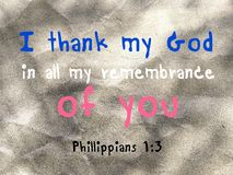 I thank my God about you