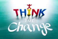I think for change concept Stock Images