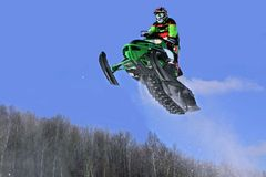 I think I can go higher. Taken at elliot lake snowcross event Stock Photography
