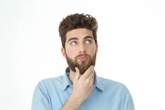 I am thinking about a great solution Stock Photo